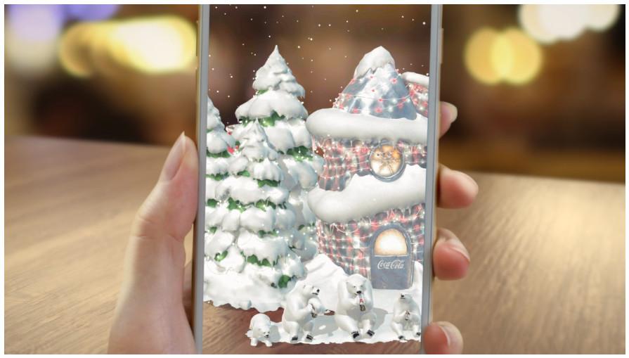 The holiday season sometimes brings a Coca-Coal app.