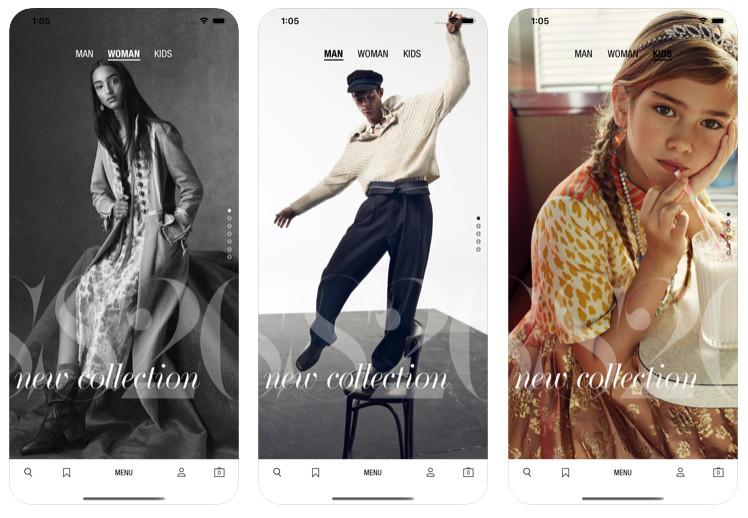 Zara's app has AR functionality.